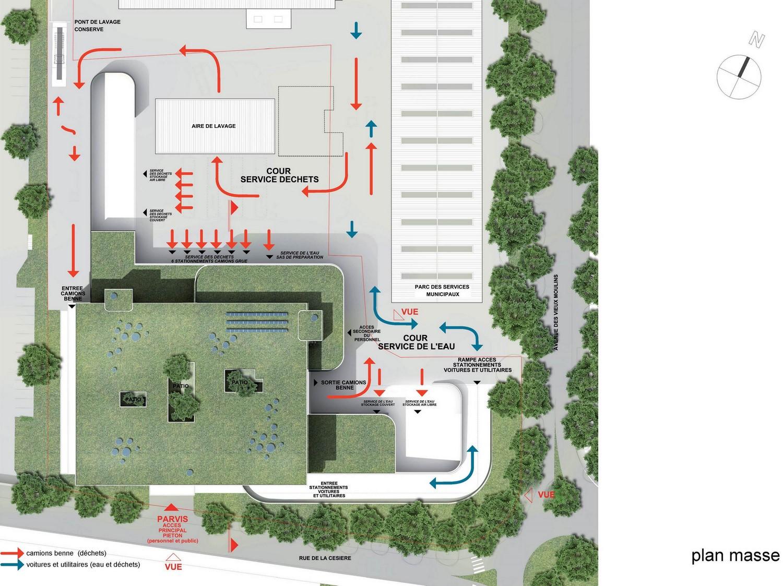 pateyarchitectes - construction du bâtiment des services de l'eau et des déchets à Annecy - haute savoie